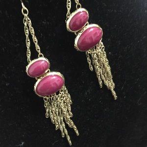 Cascading Stone & Chain Earrings